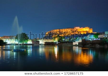 erőd · India · panoráma · város · utazás · indiai - stock fotó © mikko