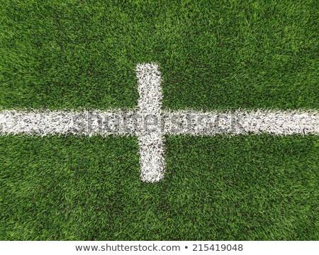 Blanche lignes terrain de football domaine artificielle gazon Photo stock © Mps197