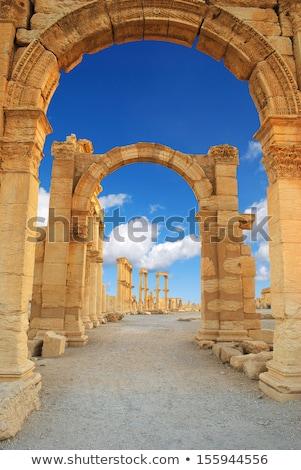 ősi · római · idő · város · égbolt · épület - stock fotó © Dserra1