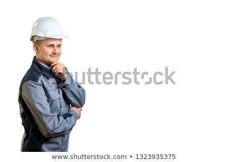 Uśmiechnięty człowiek biznesu strony podbródek Zdjęcia stock © feedough