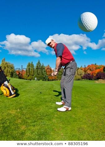 golfista · sabbia · giovani · maschio · palla · bella - foto d'archivio © capturelight