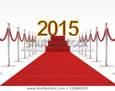 Red Carpet with number 2015 Stock photo © stevanovicigor