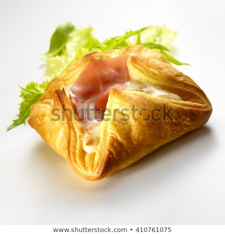 puff pastry with cheese and bacon Stock photo © M-studio