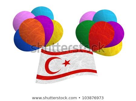 Balloon frame with flag of cyprus Stock photo © MikhailMishchenko