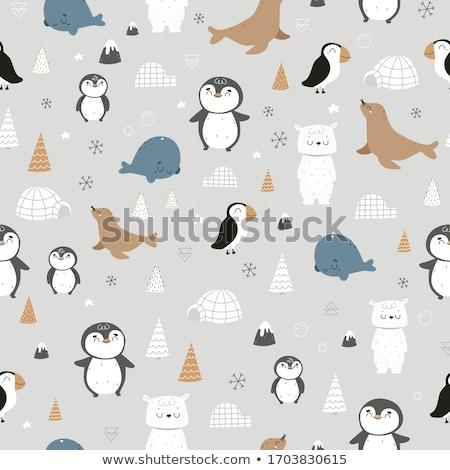 赤ちゃん スノーフレーク タッチ 下がり 雪 ストックフォト © Soleil
