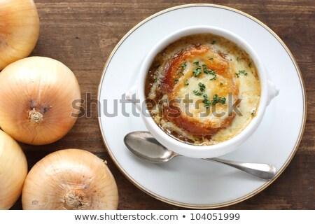 french onion gratin soup Stock photo © sarymsakov