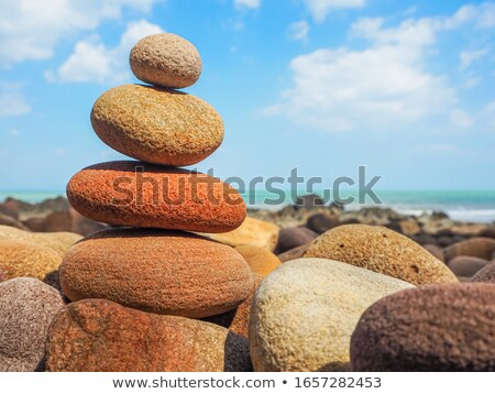 Pepple Stack in Water Stock photo © spanishalex