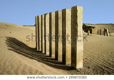 5 pillars of moon temple near Marib, Yemen Stock photo © meinzahn