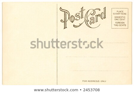 Vintage carte postale pas tampon New Jersey New York Photo stock © Hofmeester