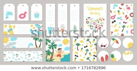 summer labels set stock photo © adamson