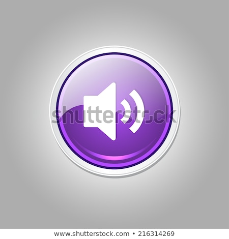 Voulme Circular Purple Vector Web Button Icon Stock photo © rizwanali3d