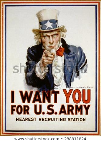 nagybácsi · amerikai · zászló · vektor · rajz · illusztráció · tart - stock fotó © cteconsulting