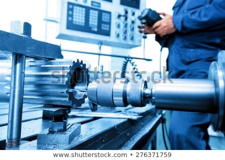 engineering process on metal gears stock photo © tashatuvango