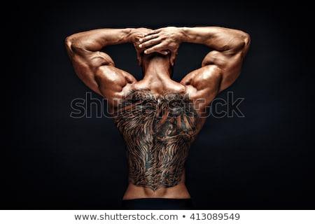 強い · 男 · 筋肉 · 選択フォーカス · 孤立した - ストックフォト © stryjek