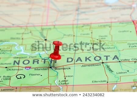 Kuzey · Dakota · harita · seyahat · ABD · sınır · turizm - stok fotoğraf © speedfighter