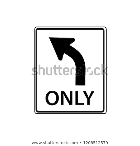 Brit fordul egyirányú utca égbolt út kék Stock fotó © latent