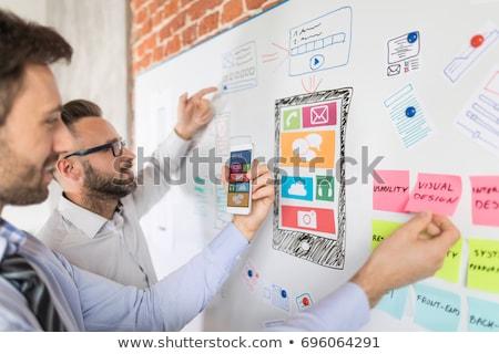 Web design program terv építészet számítógépmonitor képernyő Stock fotó © robuart