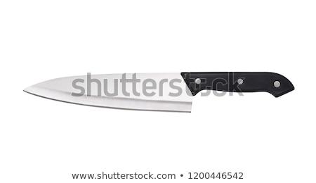 Chef's knife isolated on white Stock photo © ozaiachin