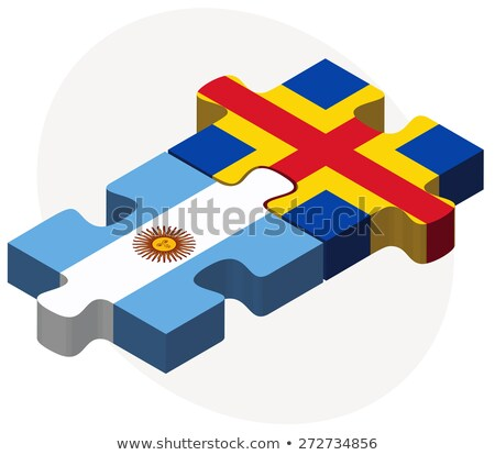 Argentine drapeaux puzzle isolé blanche Photo stock © Istanbul2009