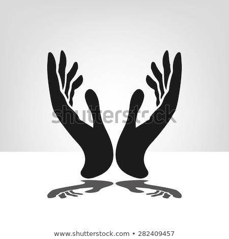 preto · silhueta · oração · laranja · amor · deus - foto stock © istanbul2009