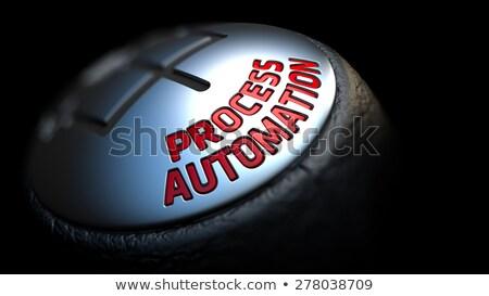 Processo automação engrenagem vara vermelho texto Foto stock © tashatuvango