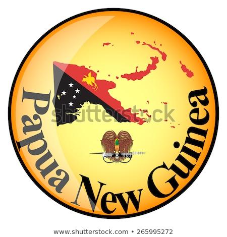 Папуа-Новая · Гвинея · флаг · кнопки · знак · путешествия · цвета - Сток-фото © mayboro