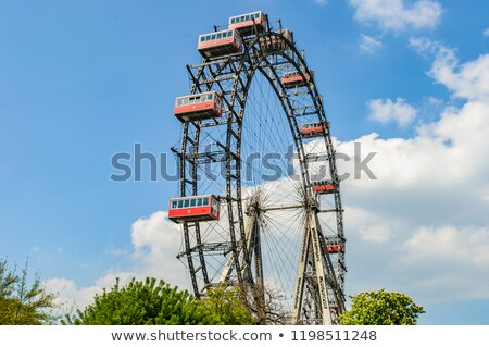 ferris wheel in vienna austria stock photo © elnur