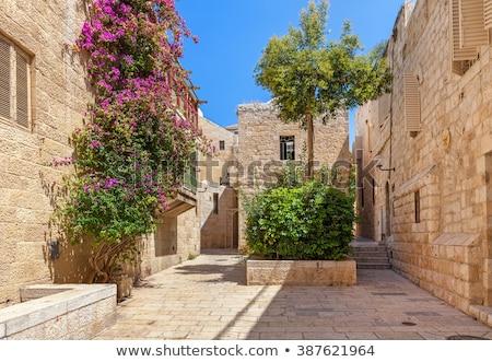 oude · Jeruzalem · steegje · kwartaal · stad · Israël - stockfoto © zhukow