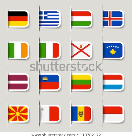 Bandeira etiqueta Mônaco isolado branco assinar Foto stock © MikhailMishchenko