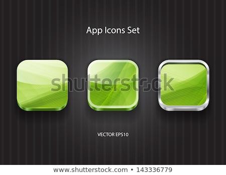 Multimedya web Internet kare vektör yeşil Stok fotoğraf © rizwanali3d