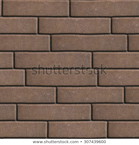 Brown Figured Pavement  Slabs as Rectangles Arranged Horizontally. Stock photo © tashatuvango