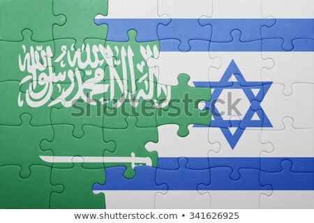 Saudi Arabia and Israel Flags in puzzle  Stock photo © Istanbul2009