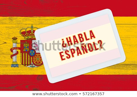 Tablet with Spain flag Stock photo © tang90246