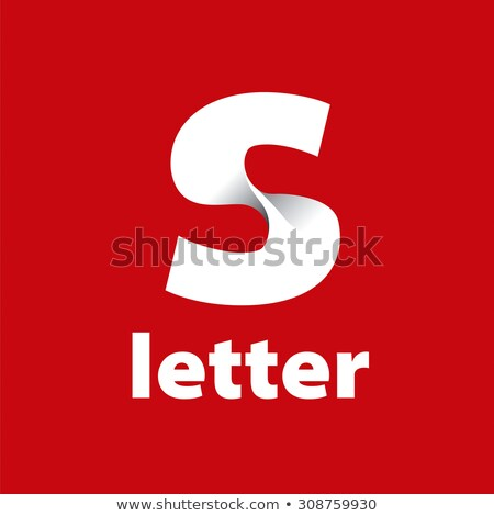 vector logo letter S in the form of red tape stock photo © butenkow