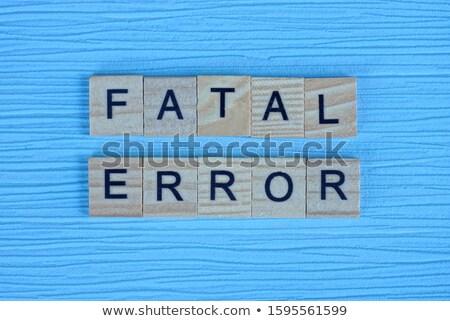 Error palabra lápiz borrador blanco apoyo Foto stock © fuzzbones0