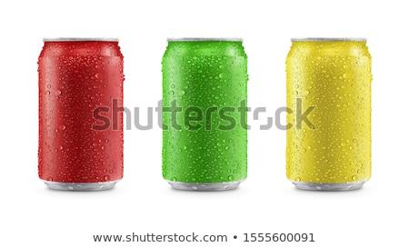 Alluminio verde rosso bere può alimentare Foto d'archivio © shutswis