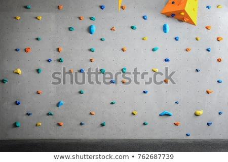 Tırmanma duvar örnek gülümseme spor komik Stok fotoğraf © adrenalina