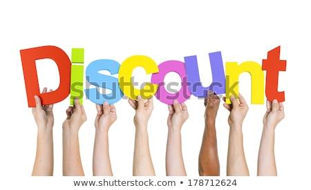 Discount word on target Stock photo © fuzzbones0