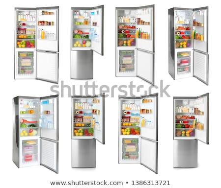Refrigerators with open doors isolated Stock photo © ozaiachin