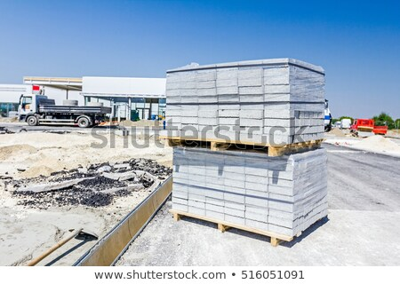 paving slabs on a pallet   Stock photo © avq