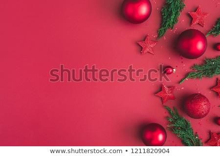 christmas red decorations stock photo © -baks-