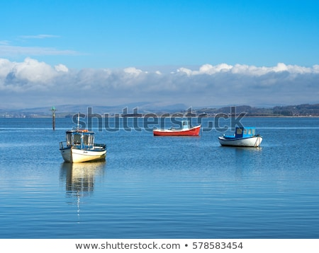 fishing boats in morecambe bay stock photo © capturelight