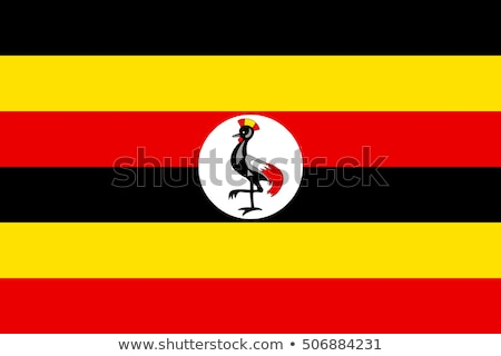 National flag of Uganda with correct proportions, element, colors Stock photo © tkacchuk