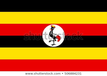 zászló · Uganda · térkép · vidék · gomb · politika - stock fotó © tkacchuk