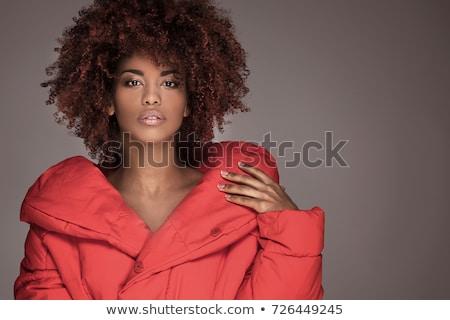 Stock fotó: Káprázatos · smink · portré · fiatal · modell · nő