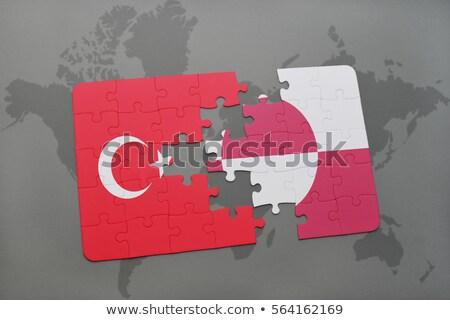 Турция флагами головоломки изолированный белый бизнеса Сток-фото © Istanbul2009