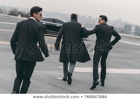 Dois empresário mão trabalhar preto Foto stock © Paha_L