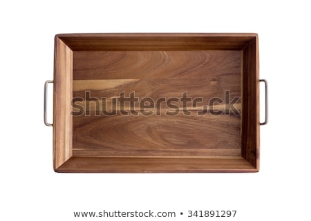 Decorative rectangular olive wood tray Stock photo © ozgur