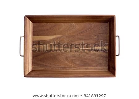 decorative rectangular olive wood tray stock photo © ozgur