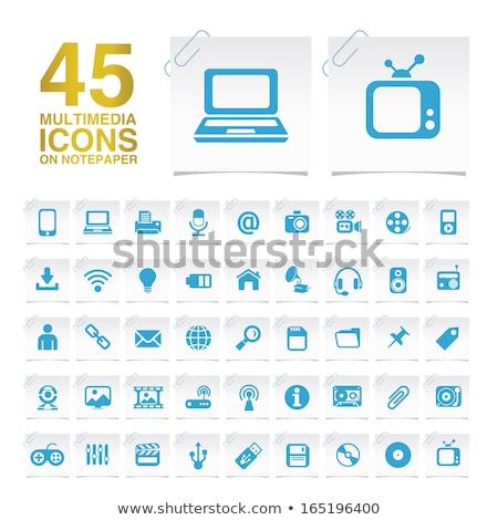 Wifi vektor arany webes ikon szett gomb Stock fotó © rizwanali3d